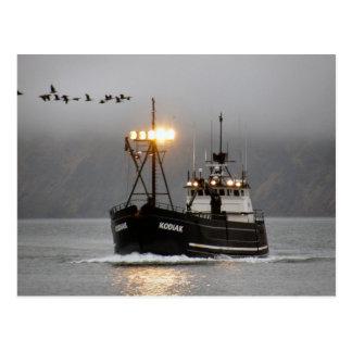Kodiak, bateau de crabe dans le port néerlandais, carte postale