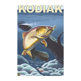 Kodiak, section transversale de truite d'AlaskaCut Toiles