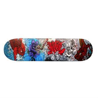 Koi et dragon - art de la rue Sk8 Skateoard Personnalisé