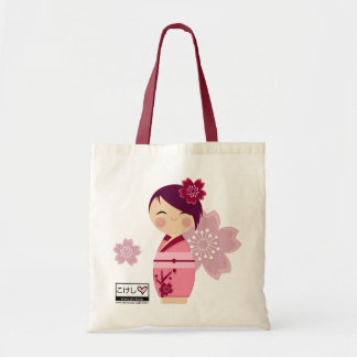 Kokeshi Sakura Fourre-tout Sac En Toile Budget