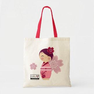 Kokeshi Sakura Fourre-tout Sac En Toile