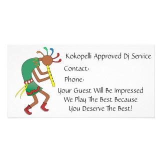 Kokopelli a approuvé le balancier - Carte de vis Cartes De Vœux Avec Photo