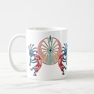 KOKOPELLI/HOMME DANS LE LABYRINTHE + votre Mug Blanc