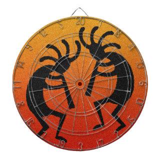 Kokopelli noir orange jeu de fléchettes