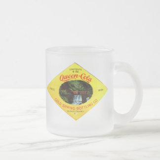Kola vintage de la Reine Mug En Verre Givré