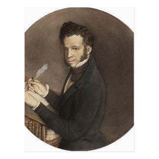 Konstantin Somov- Alexandre Pushkin au travail Carte Postale