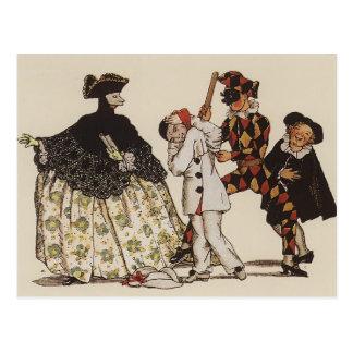 Konstantin Somov : Livre de marquis. Illustration Cartes Postales