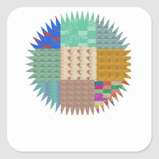 KOOLshades : ÉTINCELLE de patchwork de tissu Sticker Carré