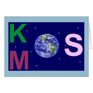 Kosmos étoilé carte de vœux