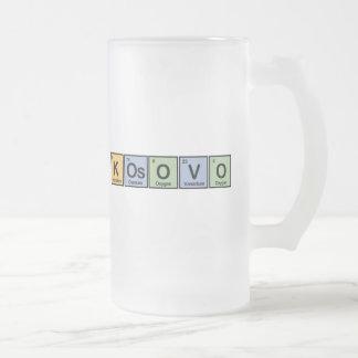 Kosovo a fait des éléments frosted glass beer mug