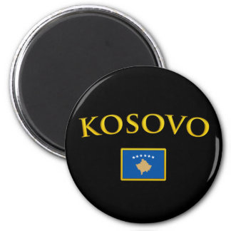 Kosovo d'or magnet rond 8 cm