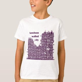 Kowloon a muré la chemise de ville t-shirt
