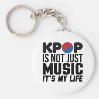 Kpop est mes graphiques de slogan de musique de la porte-clé rond
