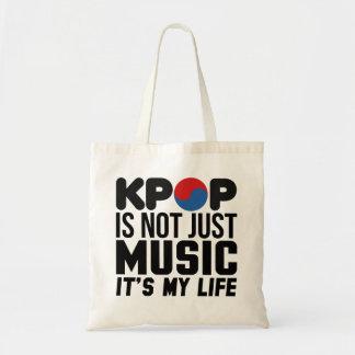 Kpop est mes graphiques de slogan de musique de la sac fourre-tout
