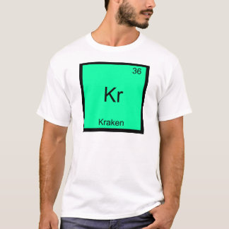 Kr - T-shirt drôle de symbole d'élément de chimie