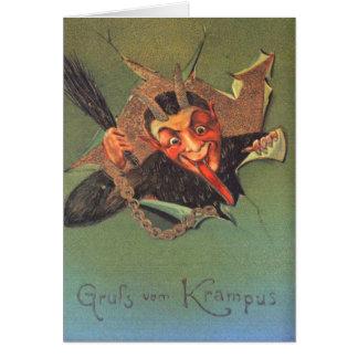 Krampus Carte De Vœux