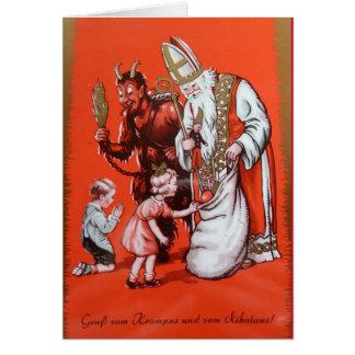 Krampus et carte de Saint-Nicolas