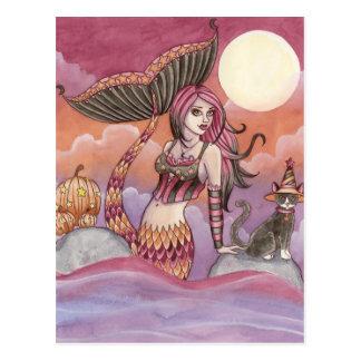 Krista - carte postale de sirène de Halloween
