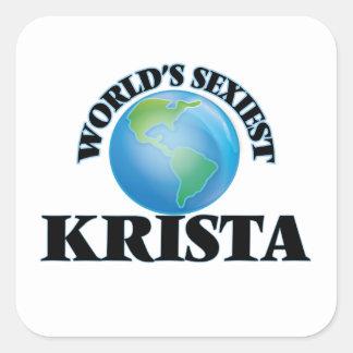 Krista le plus sexy du monde sticker carré