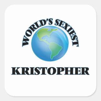 Kristopher le plus sexy du monde autocollant carré