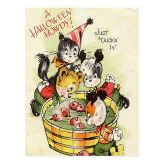 KRW Halloween vintage allo mignon Carte Postale