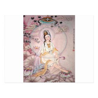 Kuan Yin ; Déesse bouddhiste de compassion Cartes Postales