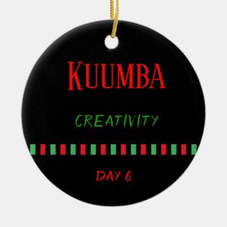 Kuumba - ornement du jour 6 % pipe% de Kwanzaa