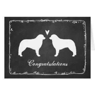 Kuvasz silhouette des félicitations de mariage carte de vœux