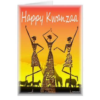 Kwanzaa heureux carte de vœux