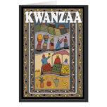 Kwanzaa, stalle du marché carte de vœux
