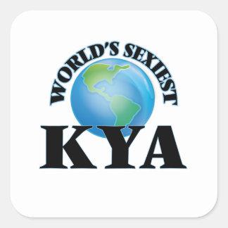 Kya le plus sexy du monde autocollants carrés