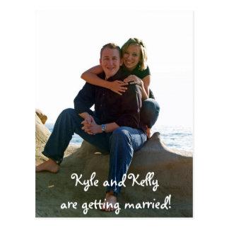 Kyle et Kelly se marient ! Carte Postale