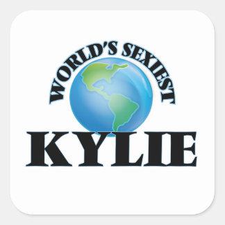 Kylie le plus sexy du monde autocollant carré