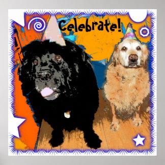 L affiche de chien célèbrent