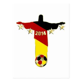 L Allemagne soutient le Deutschland Christus Carte Postale