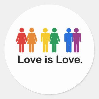L amour est amour adhésif rond