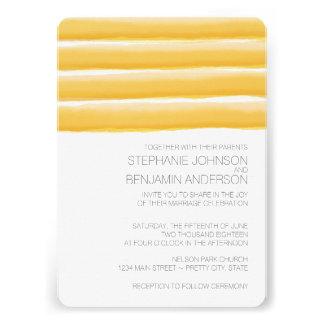 L aquarelle jaune et grise barre le mariage invitations personnalisées