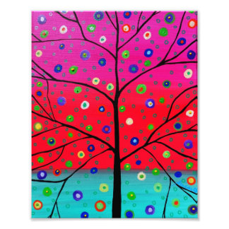 L arbre de la vie fleurit la peinture impressions photographiques