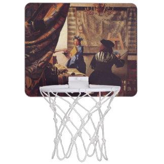 L art de la peinture par Johannes Vermeer Mini Paniers De Basket