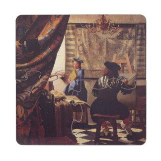 L art de la peinture par Johannes Vermeer Dessous De Verre Puzzle