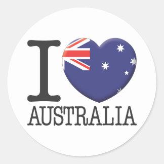 L Australie Autocollants Ronds
