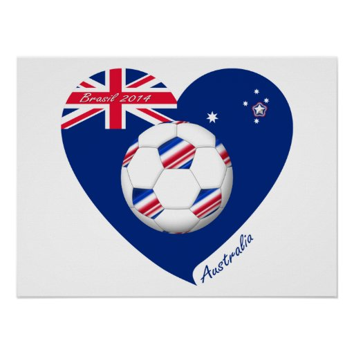 L'«AUSTRALIE» Soccer Team. Football de l'Austral Poster