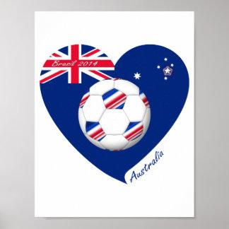 L'«AUSTRALIE» Soccer Team. Football de l'Austral Posters
