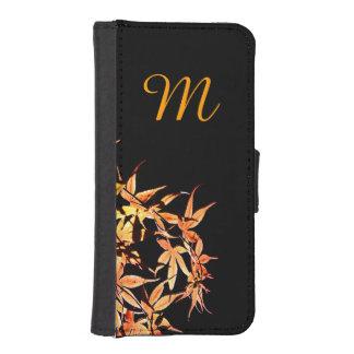 L automne colore la caisse de portefeuille de coque avec portefeuille pour iPhone 5