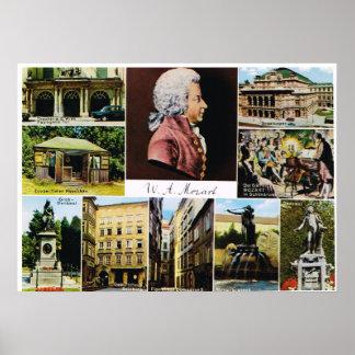L Autriche Mozart endroits a lié à Mozart Posters