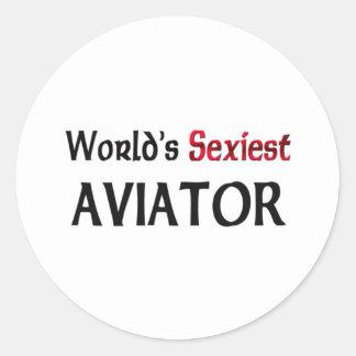 L aviateur le plus sexy du monde adhésif