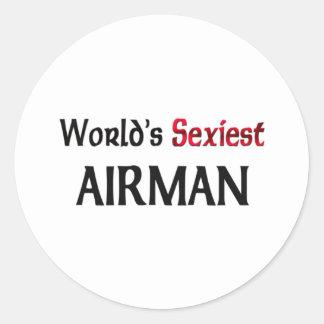 L aviateur le plus sexy du monde autocollants
