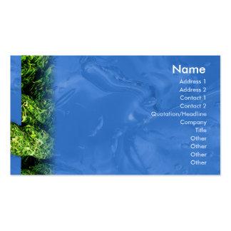 L eau et herbe - affaires cartes de visite personnelles