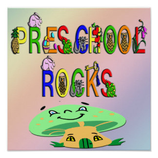 L école maternelle bascule l affiche de champignon