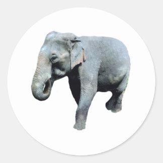 L éléphant 1p de l Indochine redressent Autocollants